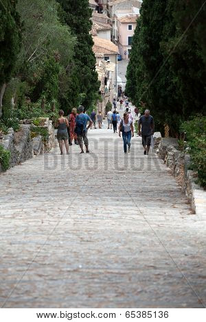 Calvary Steps in Pollensa on Mallorca Spain