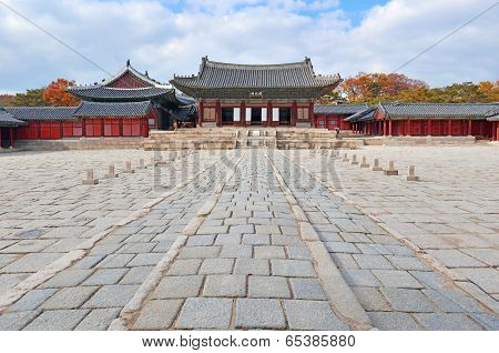 Traditional Architecture in Changgyeonggung Palace; Seoul, South Korea