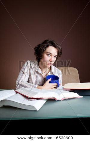 Student Studies Alone