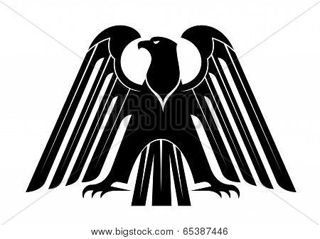Proud black eagle silhouette