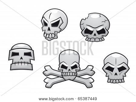 Halloween or Pirate themed skull set