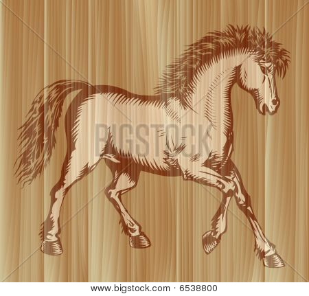 Prancing horse vector