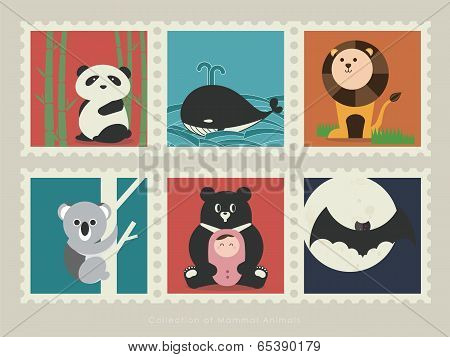 Stamps of mammal animal-1