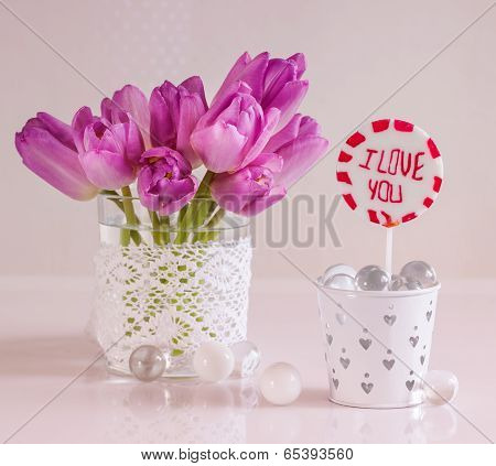 Tulips and lollipop