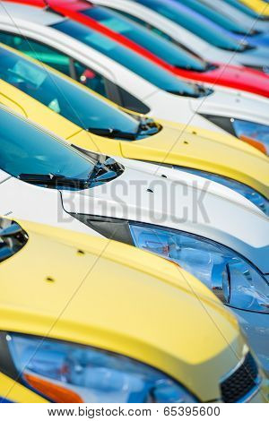 Colorful Cars Stock