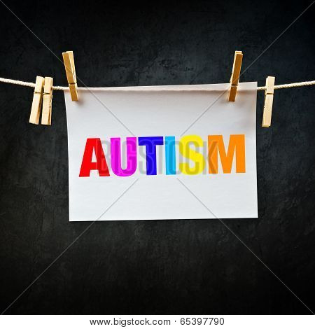 Autism Printed On Paper
