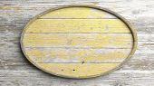 pic of elliptical  - Old elliptic wooden sign on wood wall background - JPG