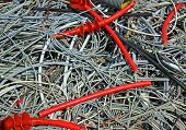 image of landfills  - many skein of copper wires in a controlled landfill - JPG