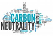foto of carbon-footprint  - Word Cloud with Carbon Neutrality related tags - JPG