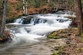 pic of cade  - Cascade on Mill Creek near the west end of Cades Cove in Great Smoky Mountains National Park Tennessee USA - JPG