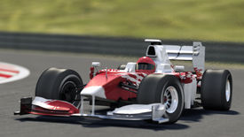 picture of race track  - formula one race car on track  - JPG