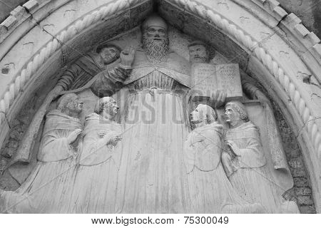 The Bas-relief On The Facade Of The Cathedral