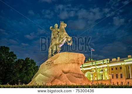 Bronze Horsman - Statue Of Peter The Great In St. Petersburg