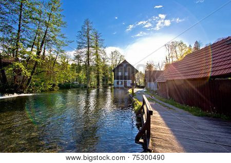 Rastoke Village On Korana River