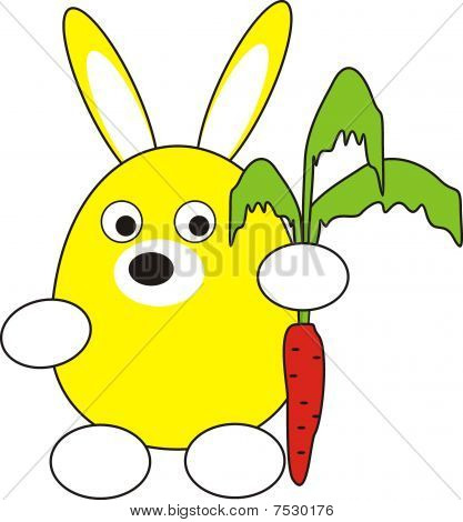 Rabbit (hare) with carrot