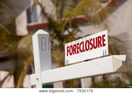 Close-up Foreclosure Real Estate Sign