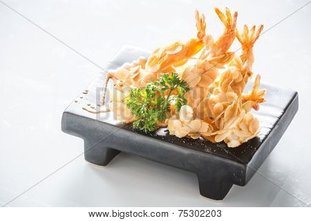 Almond Shrimp Tempura