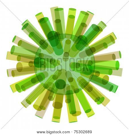 3d background, cylinders. Molecular structure, symbol. Graphic design. Vector Illustration. Can be used  for the poster, card, flyer or banner.