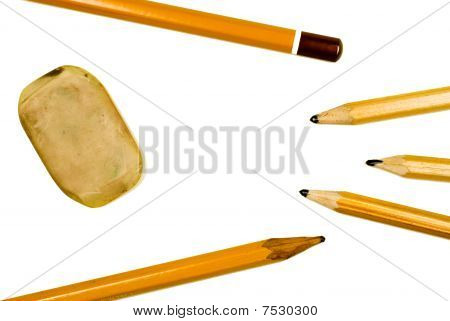 pencils and washing