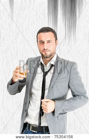 Businessman Drink Alchool