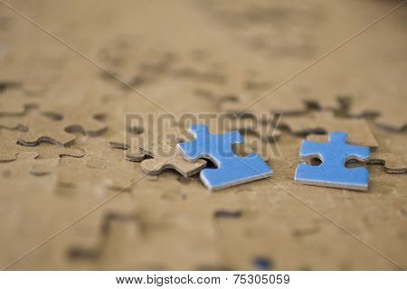 Two Blur Puzzle Pieces