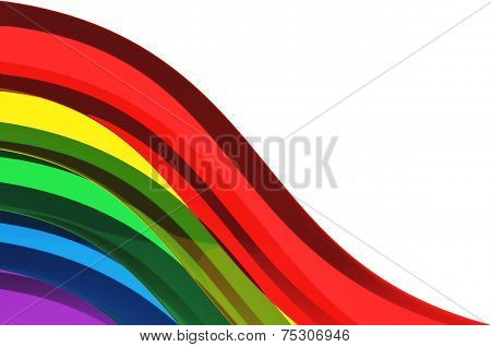 Rainbow Semi Transparent Glass Background