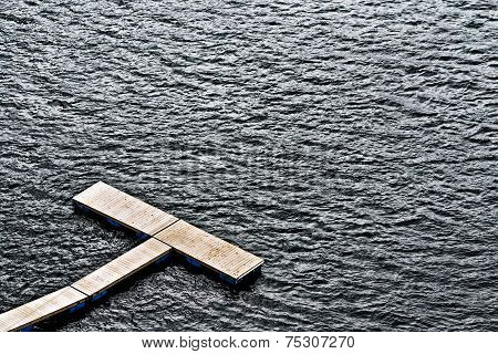 Boat Pontoon In Water