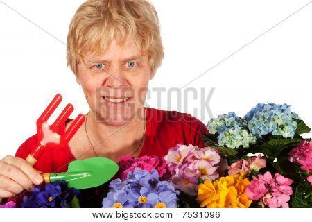 Gardening Senior Woman
