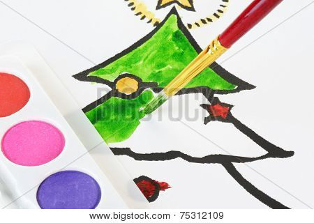 Child's Christmas Colouring