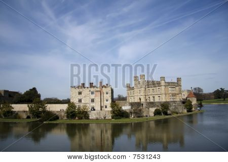 Leeds Castle Moat Reflection Kent