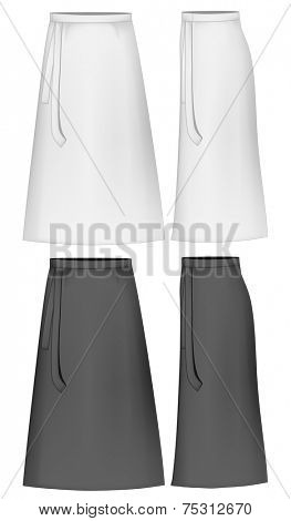 Apron skirt. Vector illustration.
