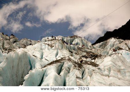 Group On A Glacier
