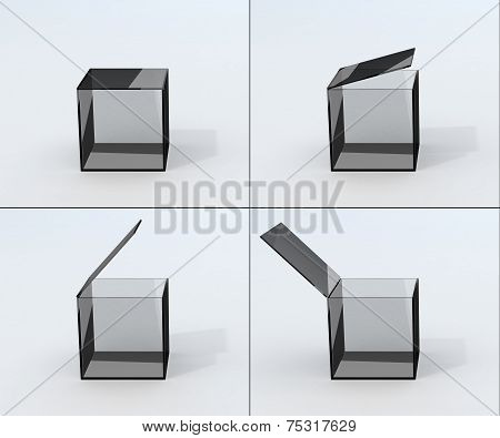 Frames Opening Glass Box