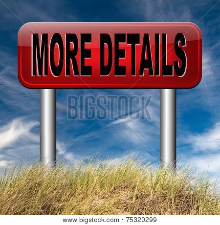 more details detailled extra information learn and find out more about