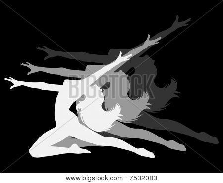 Vector aesthetic silhouette