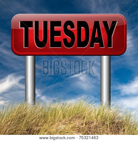 tuesday sign event calendar