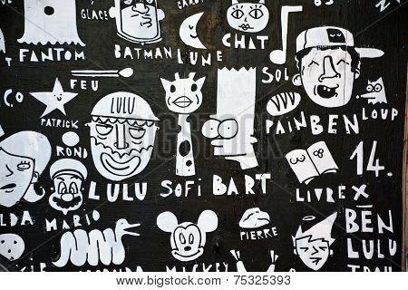 Street art Montreal cartoon