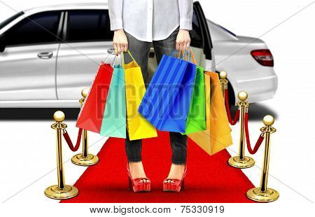 Exclusive Shopping Style With Limo And Red Carpet