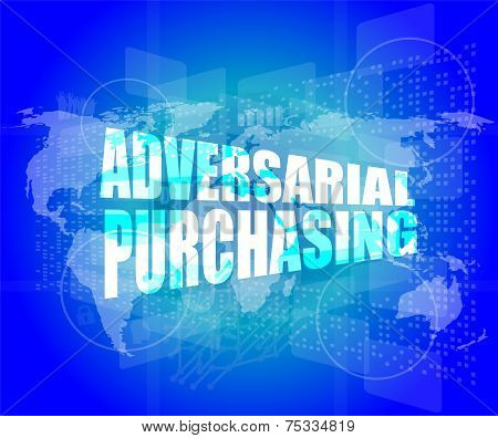 Backgrounds Touch Screen With Adversarial Purchasing Words
