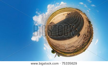 Ancient Odeon. Paphos. Cyprus. Little Planet
