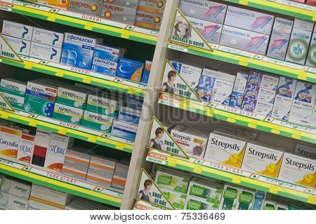 Medicine In A Pharmacy