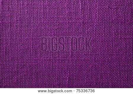 Fabric With Crisscross Fibers Of Dark Lilac Color