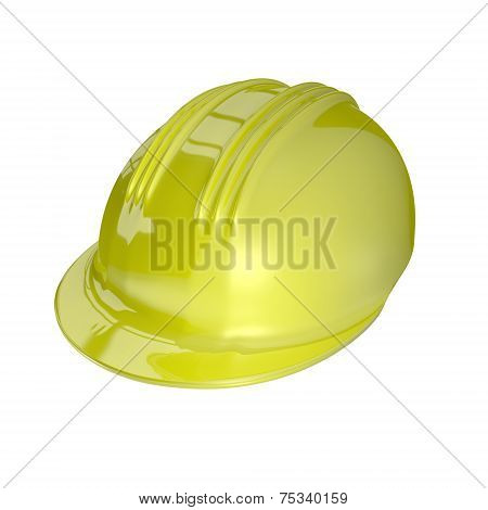 3D Render Of A Safety Helmet
