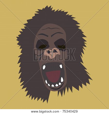 Horrible Gorilla Head