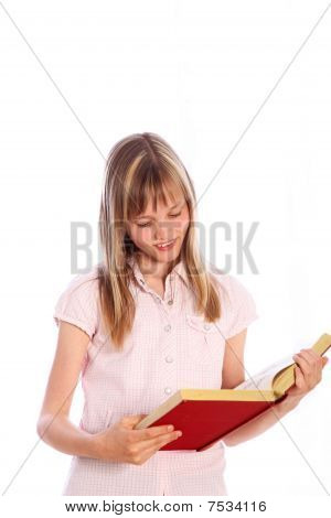 Blonde Girl With A Book