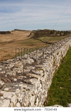 Hadrians Wall Continues into the Distance