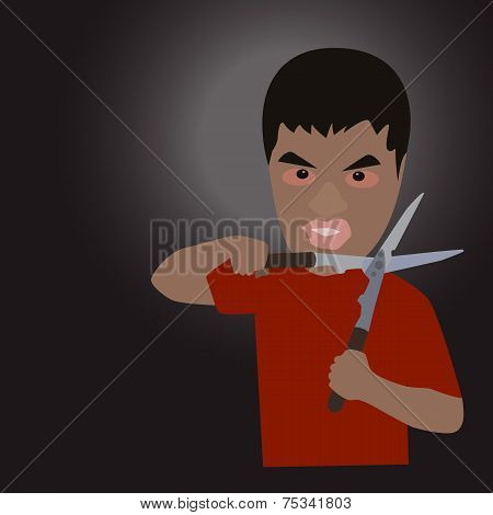 Man With Scissors