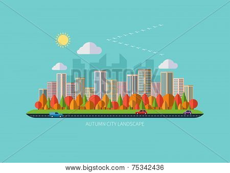 Autumn urban landscape