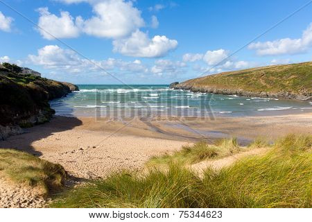 Porthcothan Bay beach Cornwall England UK Cornish north coast between Newquay and Padstow