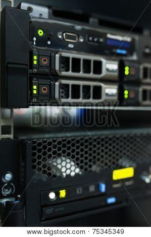 Backbone servers in data center room